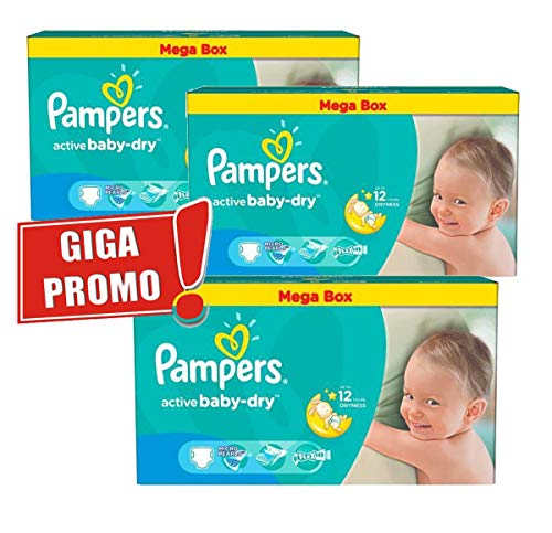 Couches Pampers - Taille 5 active baby dry - 187 couches bébé