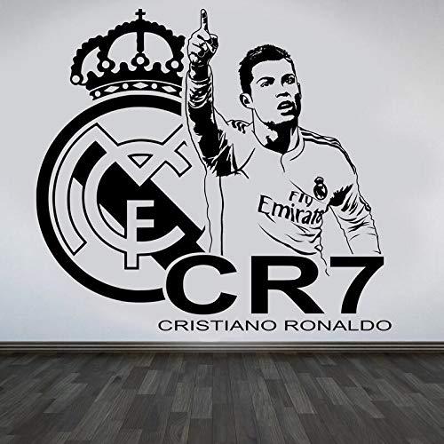 3D Cristiano Ronaldo CR7 Super Star DIY Vinyl Decal Football Sports Logo Soccer Player boy Bedroom Home Decor Art Wall Sticker Poster Kids Gift