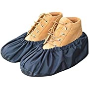 MyShoeCovers Premium Reusable Shoe and Boot Covers for Contractors - Pair, Black, Large