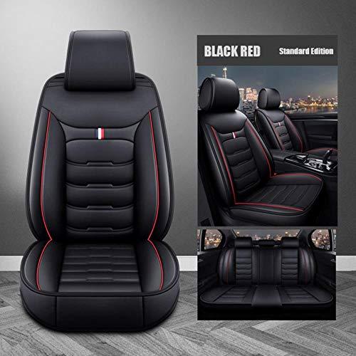 DSGHH Fundas Asientos Coche Universales para Mercedes-Benz Ml350 Ml400 Ml320 Ml300 Ml500 R320 R400 R300 R350 R500 R200 R260 Estándar Rojo Negro