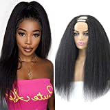 ALIMICE u part wigs human hair u part yaki wig upart human hair wig 12A half wigs for black women Brazilian u part wig human wigs kinky straight human hair wigs (kinky straight 22 inch, u part kinky straight)