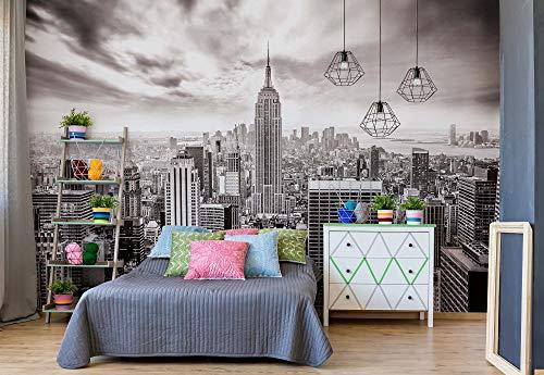 Stadt Skyline Empire State New York - Wallsticker Warehouse - Fototapete - Tapete - Fotomural - Mural Wandbild - (2318WM) - XL - 208cm x 146cm - VLIES (EasyInstall) - 2 Pieces