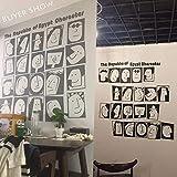 TTbaoz Cultura egipcia Cara Vinilo Pegatinas de pared Restaurante Papel tapiz Sala de estar Decoración Mural Decal 58X66Cm