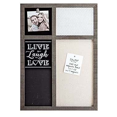 Prinz 15.5 X 2.5 X 21.5 Inch Sullivan Pallet 'Live Laugh Love' Memo Board with Clip, Chalkboard, & Wire Mesh