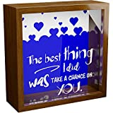 Made With Tone, Newlywed Couple Gifts | 6x6x2 Glass Wooden Shadow Box | Unique Memorabilia Picture Frame for Home Decor | Ideal for Groom or Bride |Perfect Wedding or Housewarming Gift Idea
