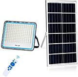 200W Focos LED Exterior Solares Luz Solar Exterior Mando a Distancia 6500K Luz Blanca IP67 Impermeable Foco Solar 200 LEDs 10000 LM