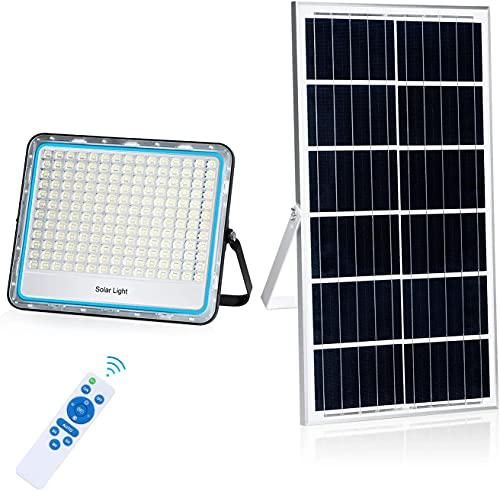 200W Focos LED Exterior Solares Luz Solar Exterior Mando a Distancia 6500K...