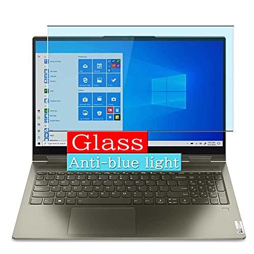 VacFun Filtro Luz Azul Vidrio Templado Protector de Pantalla, compatible con Lenovo Yoga 7 14ITL5 14' Visible Area Cristal Screen Protector(cobertura no completa)