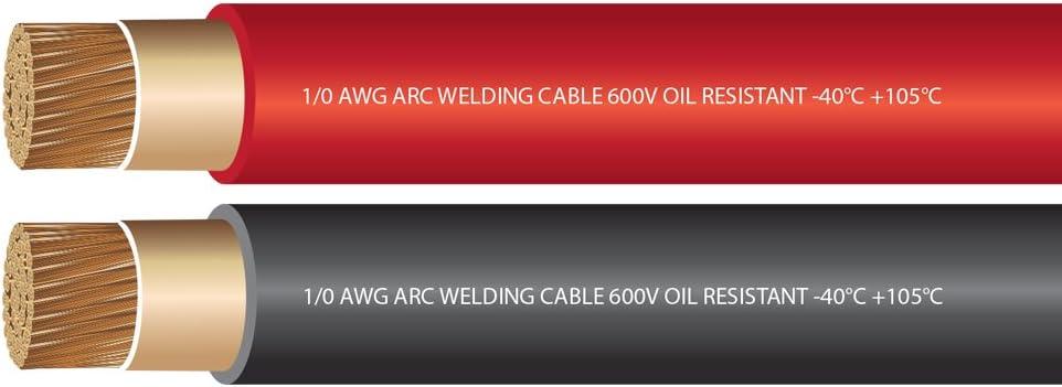 100 Feet Black 1//0 Gauge EWCS Brand 100/% Copper Premium Industrial Grade Extra Flexible Welding Cable 600 Volt
