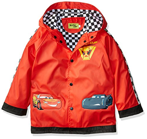 Western Chief unisex child Coat Rain Jacket, Lightning Mcqueen, 3T US