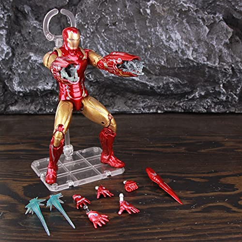 LIANGLMY Figur Eisen Mann Tony Stark MK85 7'Action Figure Mark 85 Nano Waffen Anzug Legenden Avengers Endgame Original ZD Toys Puppenmodell (Color : B Loose)