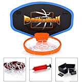 Cancha de básquetbol para niños, tiro para colgar en interiores, caja de balones azul, deportes al aire libre, juguetes educativos para niños
