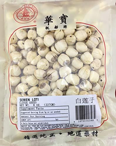 Organic Premium All Natural Dried Lotus Seeds 白莲子 12oz