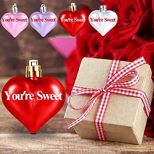 25PCS Adornos Colgantes en Forma de Corazón Corazones de Conversación de Dulces de San Valentín Colores Surtidos para Bodas y Decoraciones del Hogar