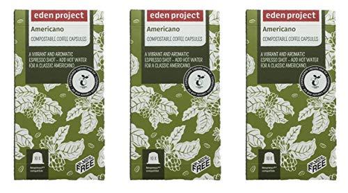 30 Plastic Free Eden Project 100% Home Compostable Nespresso Compatible Capsules
