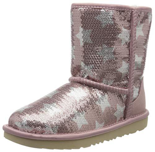 UGG Mädchen Classic Short Ii Sequin Star STIEFEL, Pink (Rosa Kristall), 30 EU