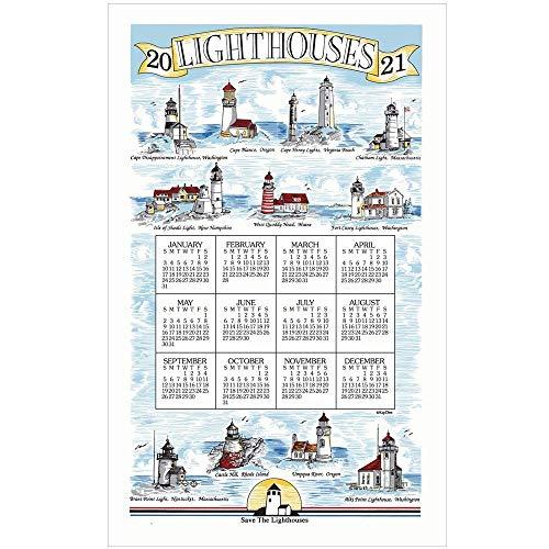 Price comparison product image Kay Dee Designs,  2021 Lighthouses Towel Calendar