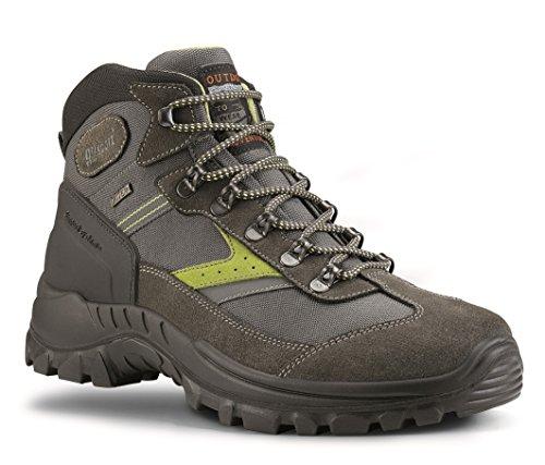 Grisport Unisex Schuhe Herren und Damen Trekking mid Trekking- und Wanderstiefel, atmungsaktive Gritex-Membran-Konstruktion Grau (V1), EU 44