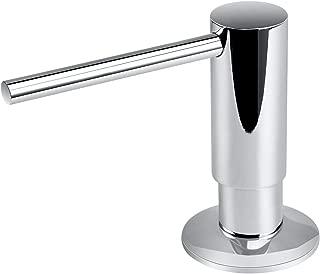 Samodra Sink Soap Dispenser, Metal Pump Head Liquid Lotion Countertop Kitchen Bathroom Soap Dispenser with 17 OZ PET Bottle (Chrome)