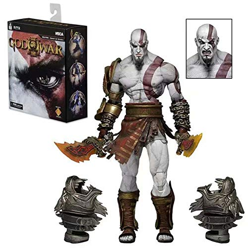 God Of War III Kratos Decoration Action Figure Role Collectible Toys In Box...