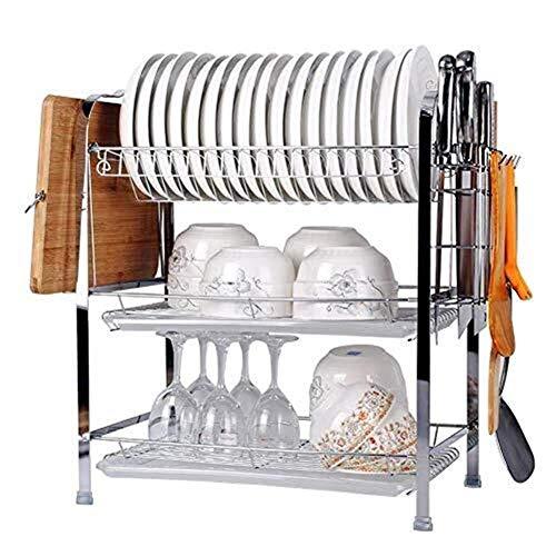 MLOZS Bandeja de cocina Organizador de bandeja de cocina - Soporte de bandeja de acero multi-función Bandeja soporte de placa soporte de placa estante toallero
