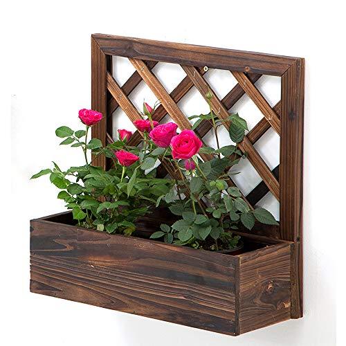 LLFFDC Potes De Flores De Madera Maciza De Pared, Macetas De Decoración De Pared Creativa, Jardín Interior Anti-Corrosión De Soporte De Flores Montado En La Pared