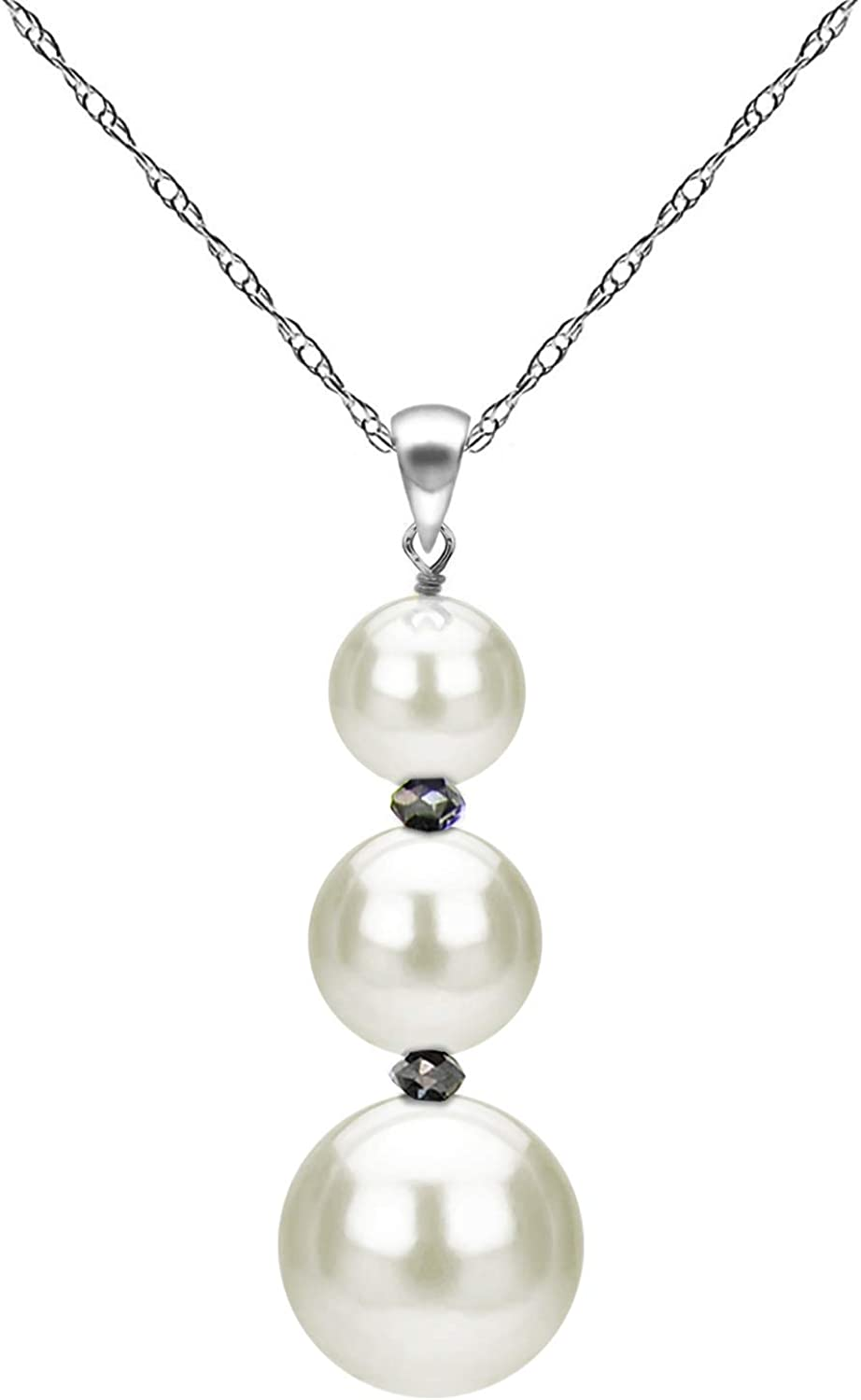 Freshwater Cultured White Pearl and High quality new Gemstones C Limited time for free shipping Pendant Necklace