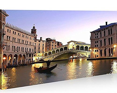 islandburner Cuadro moderno de Puente de Rialto de Venecia de Italia, impresión sobre lienzo, cuadro para sillones, salón, cocina, muebles, oficina, casa – Fotografía formato XXL