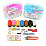JLZK Luz Hilos de Coser de Boda Tela Home Box Boda dote de Costura Kit portátil de Cintas de Viaje 7 Pespunte Tijera multifunción .Práctico (Color : Multi-Colored)