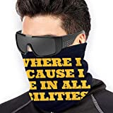 Ahdyr Máscara Unisex a Prueba de Viento a Prueba de Polvo Frase Amarilla Estampada 2 Bufanda de Polaina de Cuello Reutilizable Unisex, pasamontañas para Deportes Bufanda a Prueba de Polvo