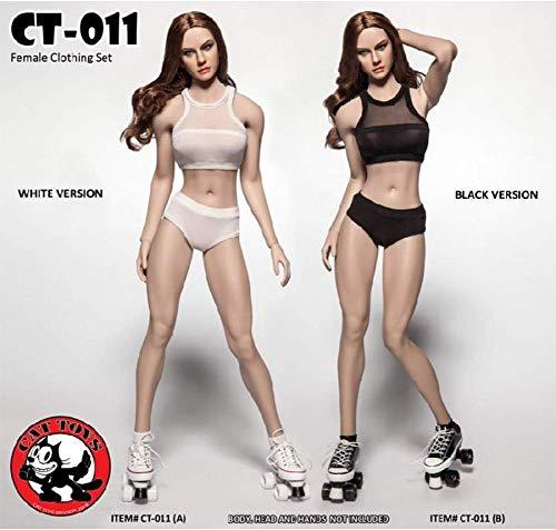 ZSMD 1/6 Dames Fitness Ondergoed Set Tweekleurige Optionele Action Doll Kleding voor HT VERYCOOL TTL Play PHICEN (A)