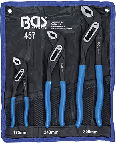 BGS - Wasserpumpenzangen Satz, 3-teilig, Rohre bis 44 mm