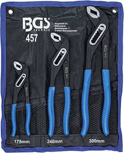 BGS 457 | Wasserpumpenzangen-Satz | 3-tlg. | 175-240-300 mm | rutschhemmend | Klemmschutz | Rohrzange / Pumpenzange
