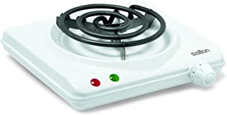 Salton HP1305 Portable Cooking Range, Single Burner, White