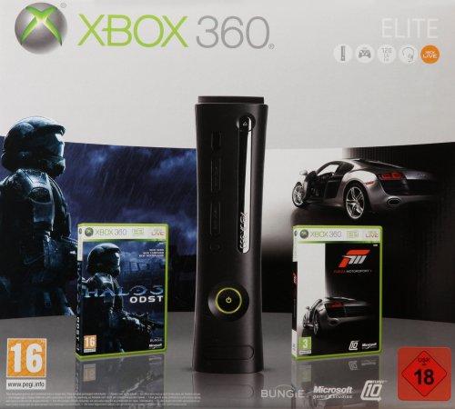 Console Xbox 360 Elite (120 Go) + Forza Motorsport 3 + Halo 3 ODST