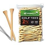 whamz33 Professional Bamboo Golf Tee 2-3/4 inch Tee Pack of 100