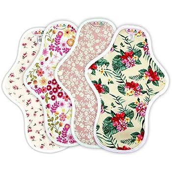 ハンナパッド Mサイズ 4枚セット ベーシックタイプ 27cm オーガニック 布ナプキン セット商品 パターンランダム