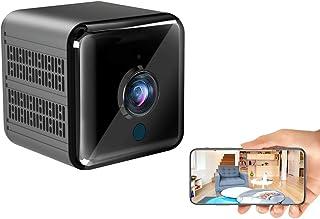 小型カメラ WiFi 超強力暗視補正機能 Gumgood 1080P HD高画質 超小型スパイ隠しカメラ 長時間録画/録音 動体検知 リアルタイム遠隔操作 室内用防犯監視カメラ 自動暗視