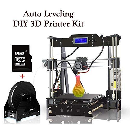 Imprimante 3D De 1,75 Mm De Bureau De Filament avec Tous Les MK8 De Métal Acrylique Cadre Écran LCD Kit De Bricolage Personnel, avec Vidéo Détaillée avec 8 Go De Support De Carte SD