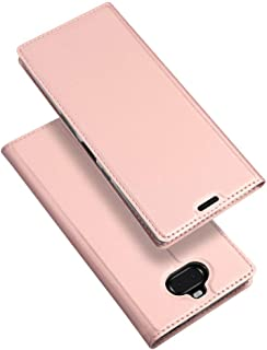 Jiangym Mobile Phone Leather Cases Skin Pro Series Horizontal Flip PU + TPU Leather Case for Sony Xperia 10 Plus, with Holder & Card Slots (Black) Leather Cases (Color : Rose Gold)