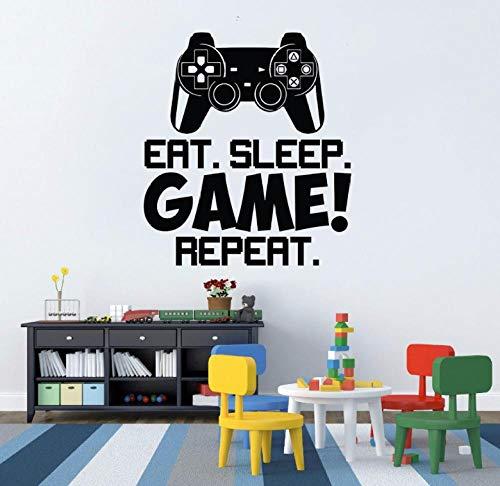 Wandaufkleber Wandbilder Abziehbilder Videospiele Controller Style Kinderspielzimmer Dekoration Spiele Kunst 80X90cm