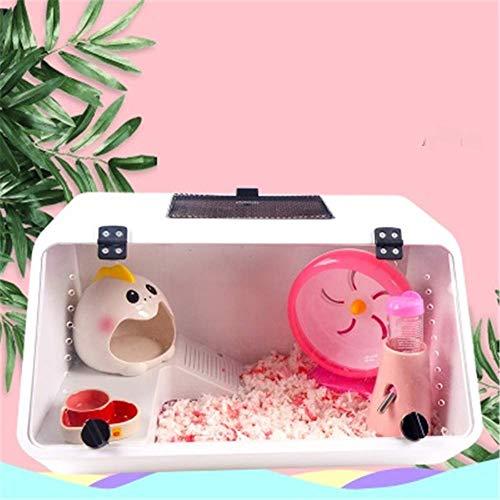 CSWO Cage de Hamster de Cochon d'Inde Dormant, Exercice, Jouet Dreamy Big Castle, Ensemble surdimensionné, Souris, Panorama Transparent