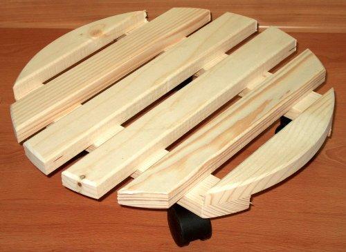 Elmato 14803 support en hêtre à roulettes pour plantes 35 cm