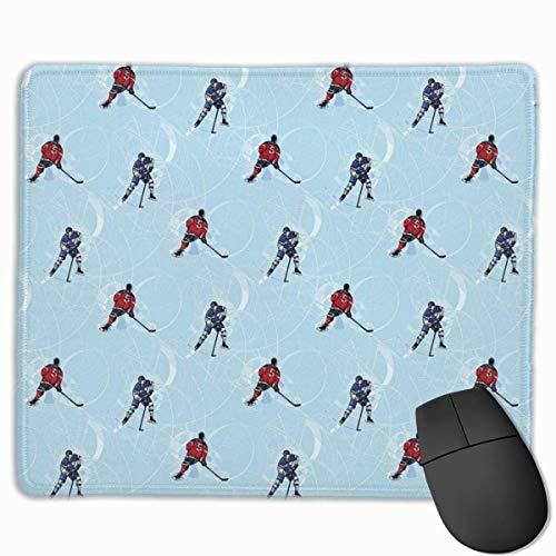 Gaming Mouse Pad Eishockey-Muster Leistungssport Rechteck Rutschfeste Gummi-Mauspads Mousepad-Matte für Computer Laptop Home Office Game Desk