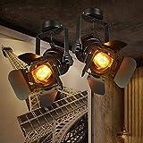 Retro Spot Track colgante luces, apliques de luminaria, loft Stretch Industrial Vintage De accesorios de iluminación, baño decoración lámpara de pared, 1pcs