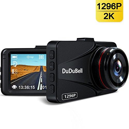 DuDuBell ドライブレコーダー 1296P スーパーHD ビデオ300万画素 静止画1200万画素 高画質 170°広角 6Gレン...
