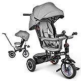 besrey Tricycle Bébé Évolutif 7 en 1 Vélo Enfant avec Siège Réversible et Roues en Caoutchouc Silencieuses, pour les enfants de 1 à 6 ans