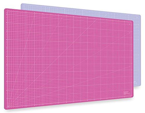 Guss & Mason Selbstheilende Schneidematte A1 in Pink, Blau, Grün. Perfekt zum Nähen, Basteln und Patchworken. 90x60 beidseitig Bedruckt. cm und inch Angabe