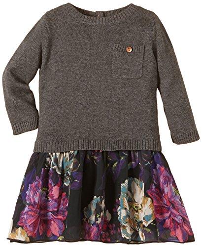 Mexx Baby - Mädchen Kleid Mini Flat Knit, Gr. 86, Grau (Limo Grey Heather 099)