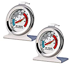 Image of 2 Pack Refrigerator Freezer Thermometer Large Dial Thermometer: Bestviewsreviews